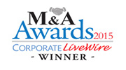 M&A Awards 2015 - Corporate LiveWire Winner