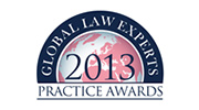 Global Law Experts 2013 - Practice Awards Winner