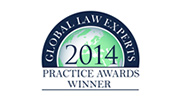 Global Law Experts 2014 - Practice Awards Winner